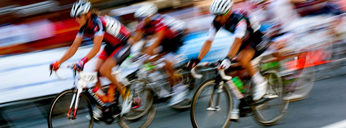 Ciclismo en carretera stock image