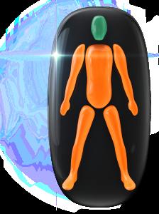 Mouvement ou coordination modérément limité de tout le corps.