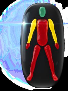 Mouvement très limité du corps et des jambes, légèrement limité des bras avec prise et contrôle des mains très restreints.