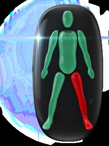 片下肢の動きに重度の障害。