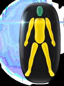Movimiento o coordinación ligeramente limitados de todo el cuerpo.