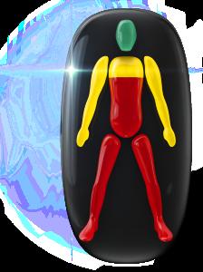 El movimiento de los hombros y de los brazos está ligeramente limitado, mientras que el movimiento del resto del cuerpo y de las piernas está muy restringido.