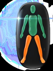 Mouvement ou coordination modérément limité des jambes.