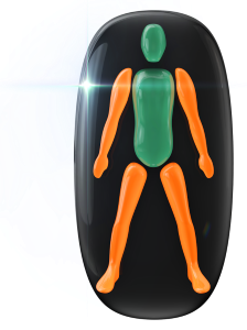 Movement or coordination affected in all four limbs to a moderate degree.