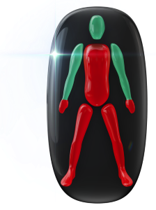 Movement affected to a high degree in the trunk, legs and hands.