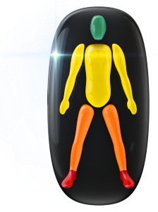 Movement and coordination mildly affected in the trunk and arms, to a moderate degree in the legs, with the feet and ankles highly affected.