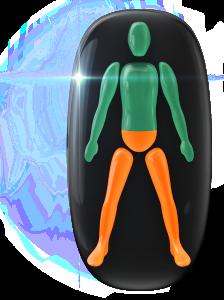 Mouvement et coordination modérément limités du bas du tronc et des jambes.