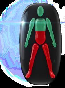 胴体中央と両下肢の動きに重度の障害。