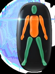 Transtorno do movimento de grau moderado no tronco e nos braços.