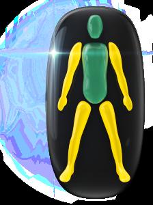 両腕と両下肢の動きと調整に軽度の障害。