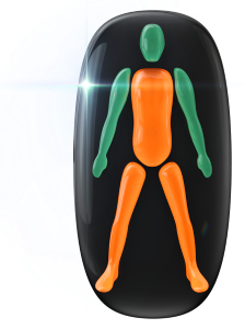 Movement and coordination moderately affected in the trunk and legs.