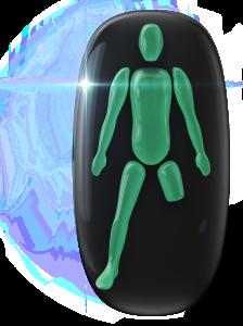 片方の下肢と大腿中央部の欠損。