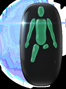 Ausência de ambas as pernas; uma abaixo do joelho e outra abaixo da coxa.