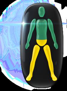 Mierne postihnutý pohyb alebo koordinácia v spodnej časti trupu a nohách.
