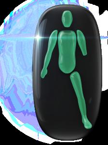Zelená ikona LEXI označuje oblasti pohybu a koordinácie, ktoré nie sú postihnuté a zobrazuje tiež chýbajúcu končatinu.