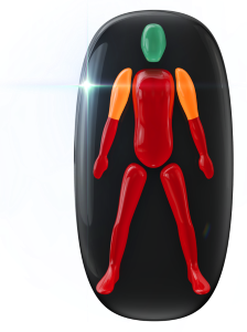 Mouvement et coordination très limités du tronc, des avant-bras et des jambes, les épaules étant modérément limitées.